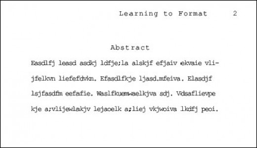 how to write an abstract in apa format  hubpages
