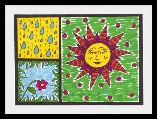 A little rain. A little sun. Thrive!