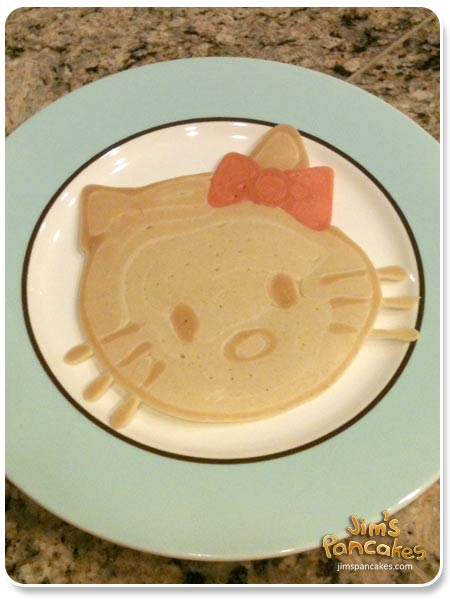 To learn how to make some really cool pancakes, check out jimspancakes.com or get the book OMG Pancakes! (shown here) for complete instructions.