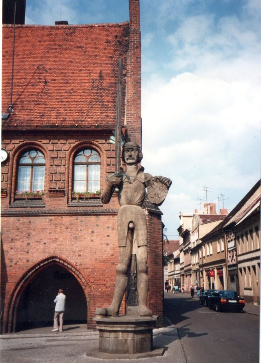 Roland near the Rathaus, Stendal, Germany