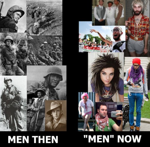 Back when men were men and women were women. Now the women are women and men just wear their clothes.