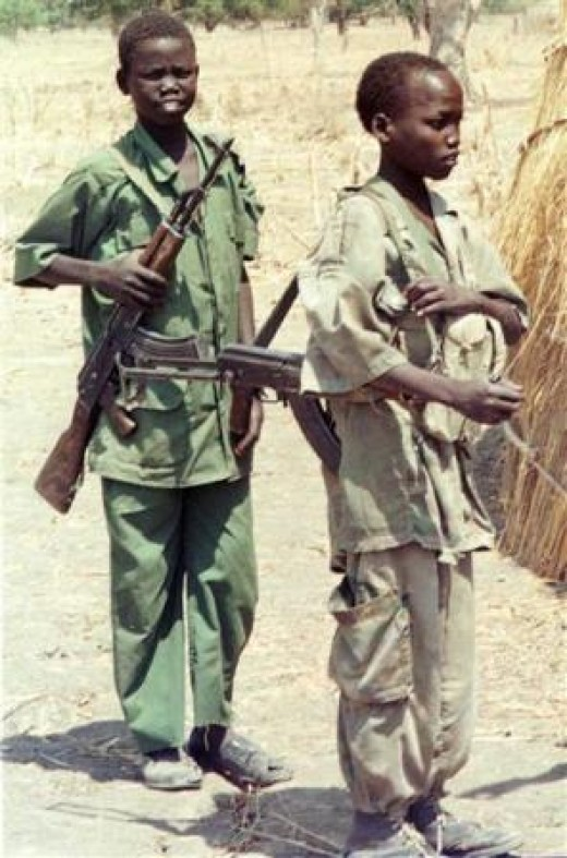 Sudanese child soldiers