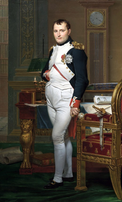 """[2] David, Jacques Louis, """"The Emperor Napoleon in His Study at the Tuileries,"""" National Gallery of Art, Wikipedia Commons. Washington DC, 1812."""