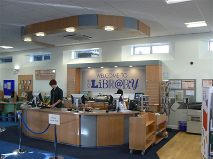 The newly refurbished interior of my local library.