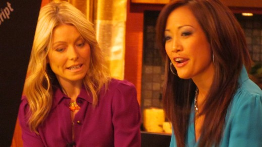 Carrie Ann Inaba, was Kelly's guest host which made the show very interesting as they created buns in the top of their heads based on a new style for men.
