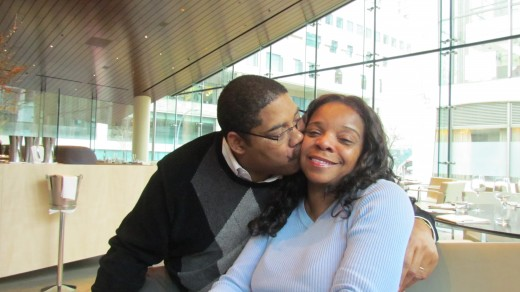 My husband and I enjoy a little kissing before lunch was served. The day together as a family just put us in the mood.
