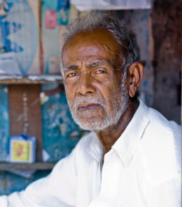 Old man with white beard (Southern India).