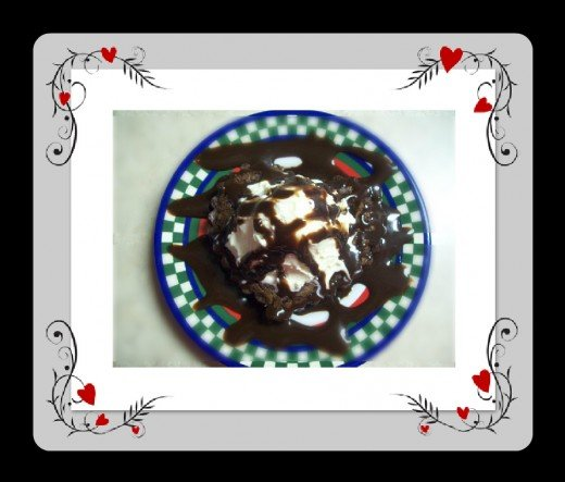 Add ice cream and chocolate syrup for a really special treat!