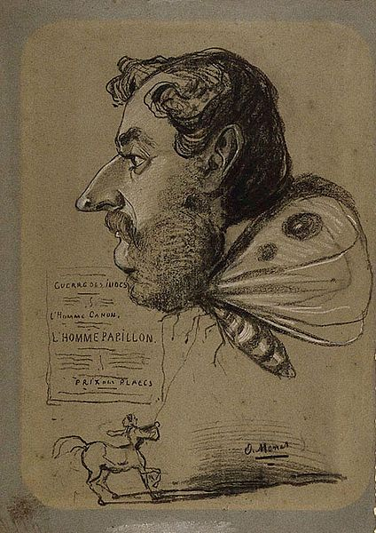 Caricature of Jules Didier, By Claude Monet