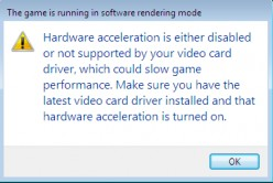 How do I turn hardware acceleration on and update my video driver?
