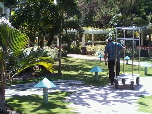 Pathway from the Resort's Lobby