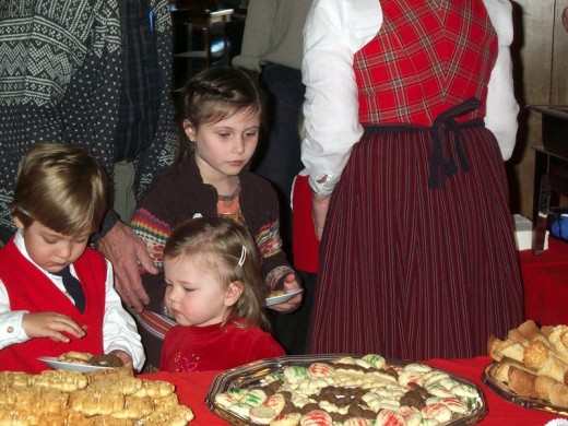 Children at the Sons of Norway Christmas party 2007, Portland, OR, USA