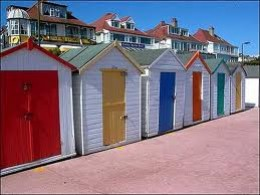 Beach huts at Preston Beach