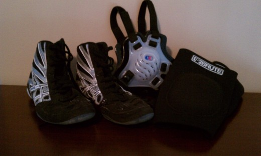 typical wrestling gear