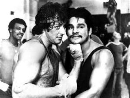 Duran with Rocky Balboa