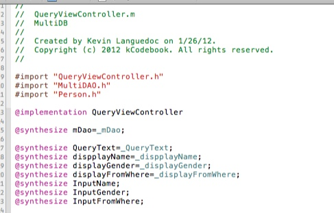 QueryViewController - SelectRecords