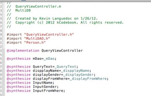 QueryViewController - SelectRecords