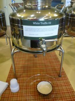 White truffle oil at Olive & Vine