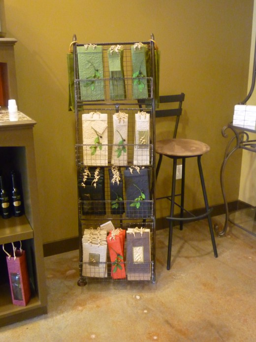 Hand-made beautiful paper gift bags at Olive & Vine