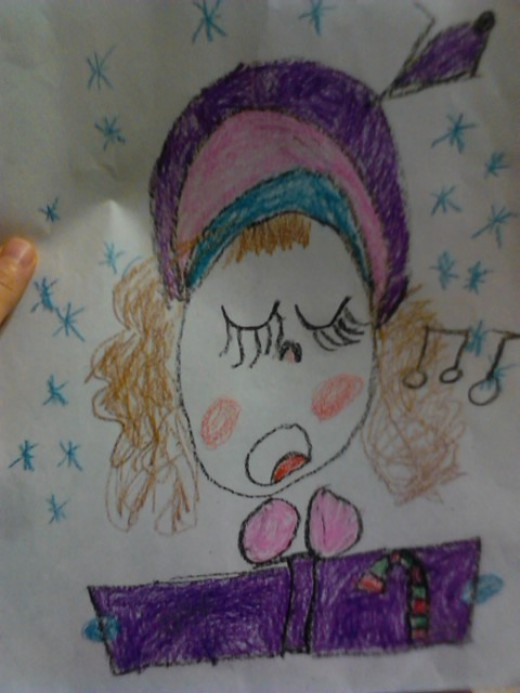 Her self portrait- beautiful and smart