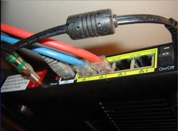 Back of Verizon Router