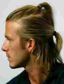 David Beckham who must change his harstyle more than most.  This not how I like a man's hair, but Posh might