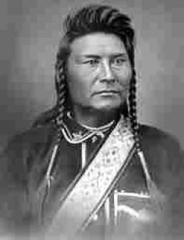 Chief Joseph.  I don't think and of the braves were 'brave enough to comment on his hair.