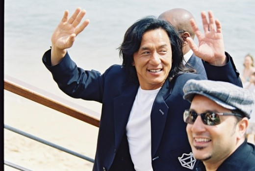 Superstar actor Jackie Chan waves to his adoring fans!