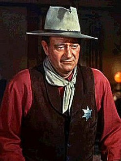 THE DUKE, JOHN WAYNE. I NEED NOT LIST THE REASONS WHY I'D LOVE TO BE LIKE WAYNE.