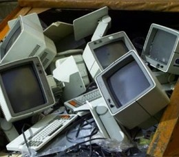 old computers - photo via sxc.hu