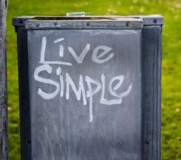 live simple - photo by Katy Brady via flickr.com