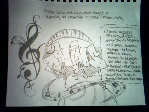 [Figure 1]. A picture I drew to express my personal love for music.