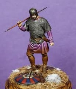 Model of an Anglian warrior of Northumbria