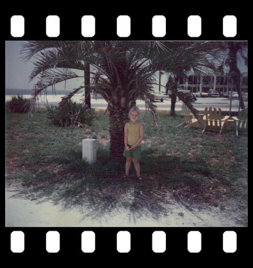 Me and a palm tree.