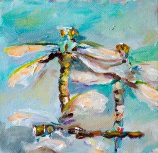 Dragonflies - Bugs from Art Nouveau