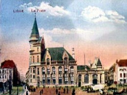 The central post office, Liège, in 1919