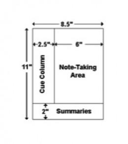 A4 sheet, Cornell layout