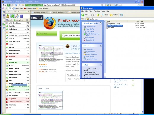 Now close the 7Zip and Drag and drop the revised XPI file to the extensions part of FireFox.