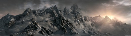 An example of some of the scenery you'll be adventuring through as you try to make money in Skyrim.