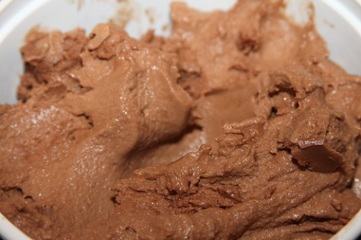 Cocoa or carob powder can turn any plain, healthy vanilla ice cream alternative into a rich, chocolatey dessert.
