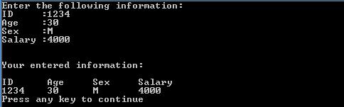 Output of external initializations above program