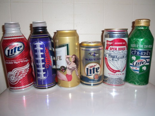 There are tons of beautiful novelty beer cans out there, but you need a lot of space to be able to display them.