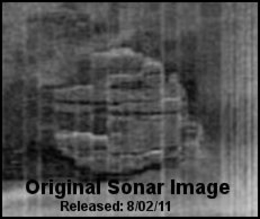 Officially Released Baltic Sea UFO Sonar Image - *See composite component image citation