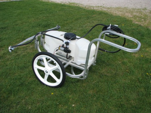 Self Contained Garden, yard, and orchard sprayer.