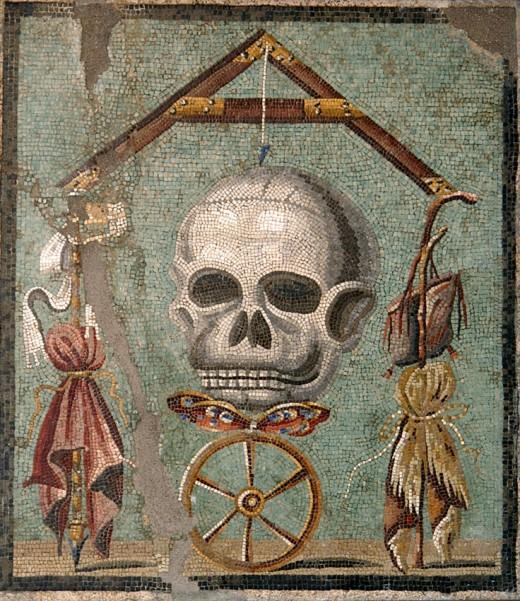 A momento mori from Pompeii.
