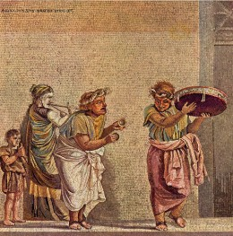 A mosaic from the Villa of Cicero.  Epicureanism did not deny life, but celebrated existence while acknowledging that it was temporary.