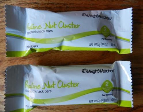 Weight Watchers Praline Nut Cluster Bars  2 POINTS