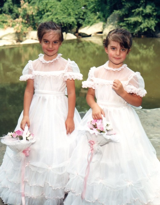 Nichole Marie and Colleen Kelly at about 3 years old.