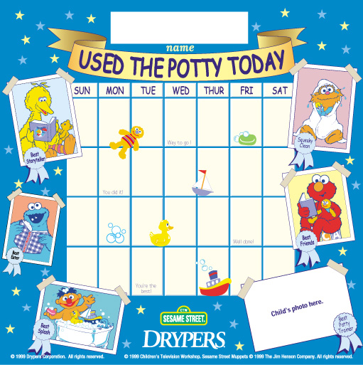 Potty training chart for toddlers
