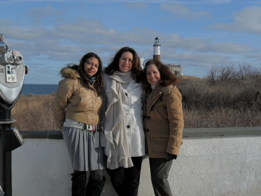 Me, my mom, and my daughter at Montauk Point.